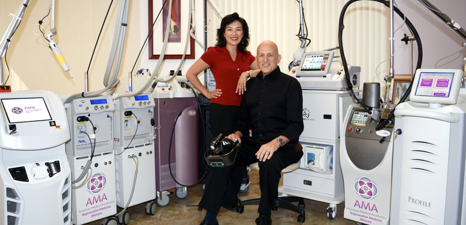 Alice Pien, MD and Asher Milgrom, PhD, founders of AMA Regenerative Medicine & Skincare