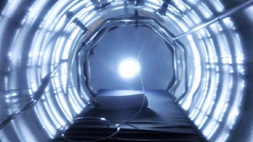 Inside a hyperbaric oxygen chamber. Borrelia doesn't like oxygen